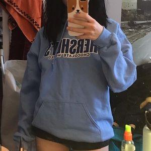 authentic blue hershey park sweatshirt